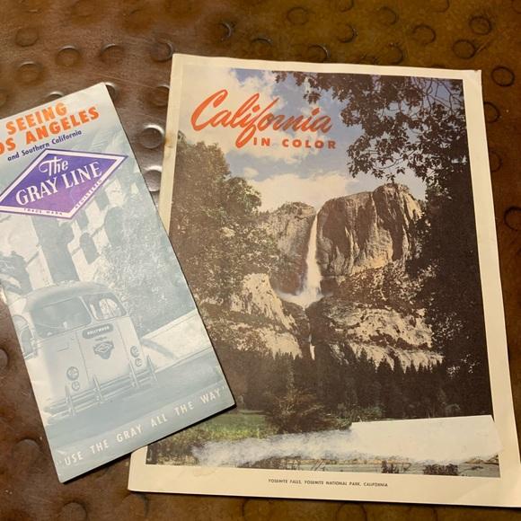 California in Color Vintage Travel brochure